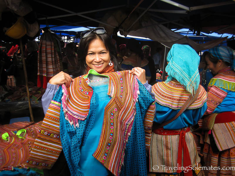 Flower Hmong Clothes, Bac Ha Market, Vietnam