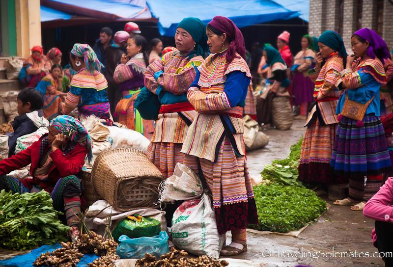 Flower Hmong Vegetable Vendors, Bac Ha Market, Vietnam