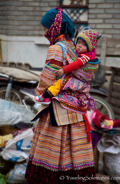 Flower Hmong Mother and Child, Bac Ha Market, Vietnam