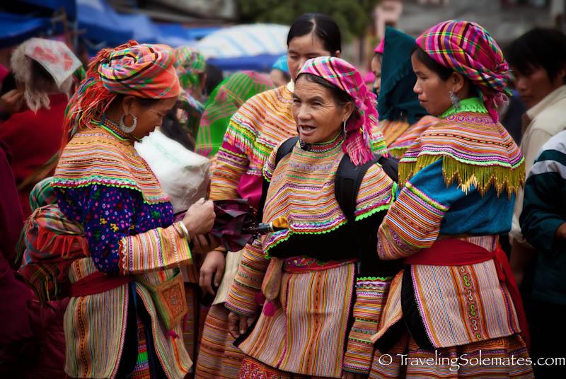 Flower Hmong Women, Bac Ha Market,Vietnam