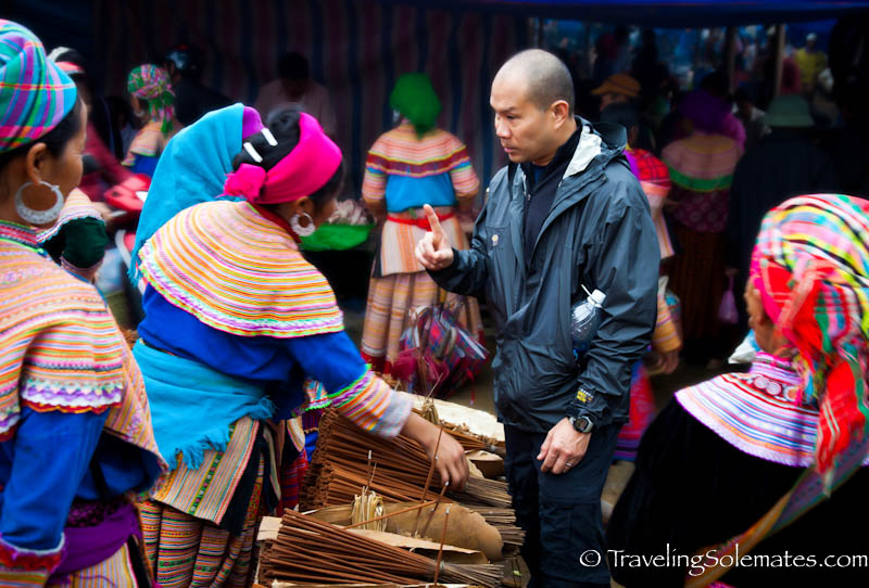 Incense Vendor, Bac Ha Market, Vietnam.