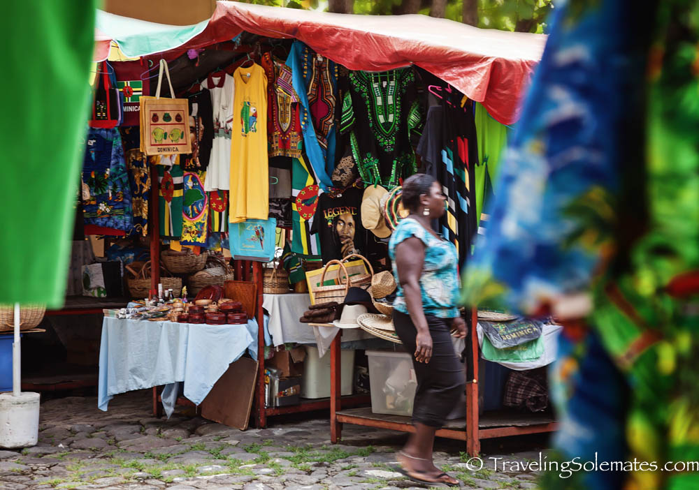 Old Market in Roseau,  the capital of Dominica