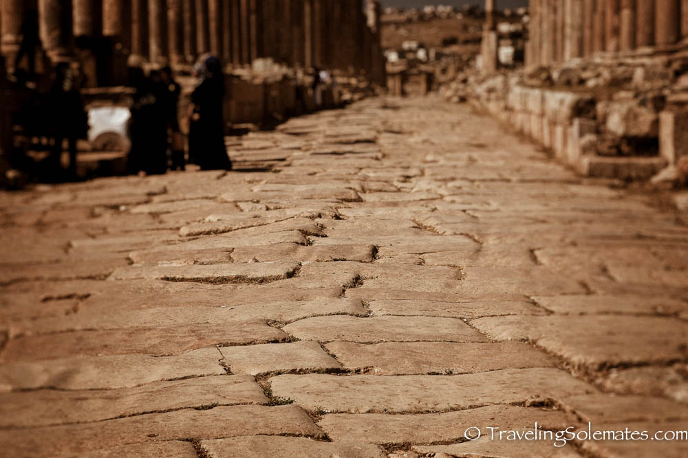 Cobbled street, Cardo Maximus (Colonnaded Street), Jerash, Jordan