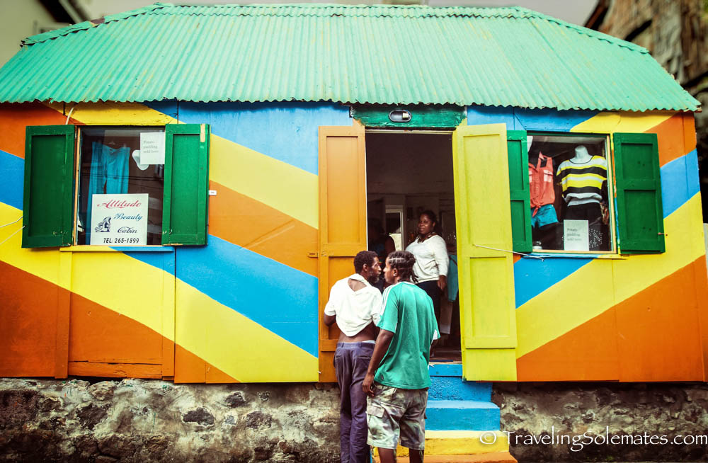 Colorful Shop in Roseau, Dominica
