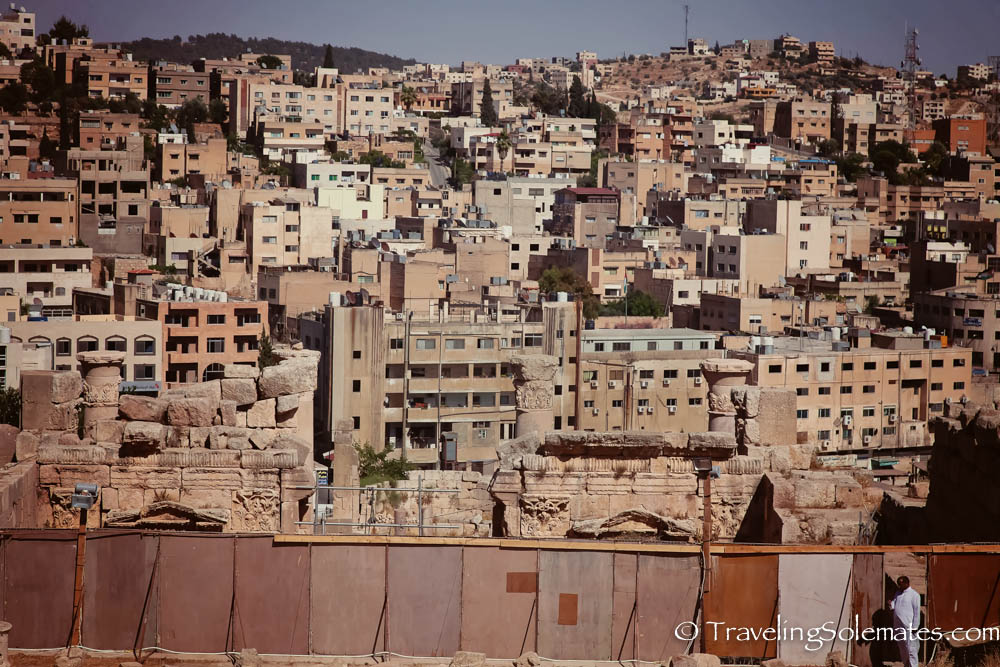 View of Jerash City from Jerash, Jordan