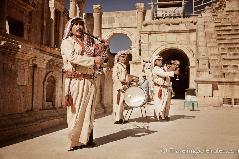 Jordanian Pipe Band, South Theater, Jerash, Jordan