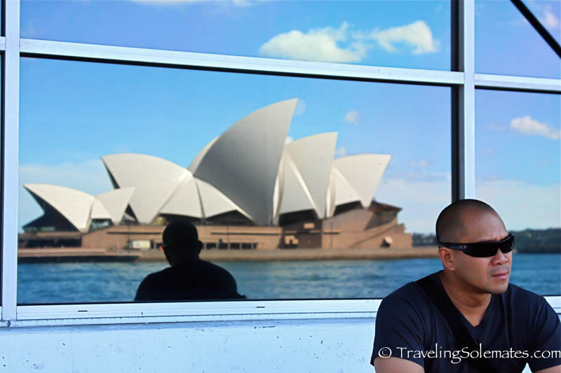 Reflection of Opera House, Sydney, Australia